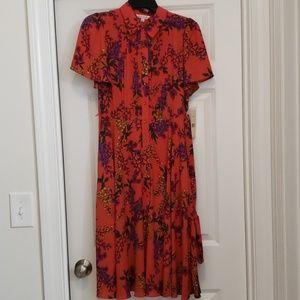 Annette Lepore Dress Terracotta Print Size 4